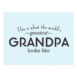 World's Greatest Grandpa Postcard