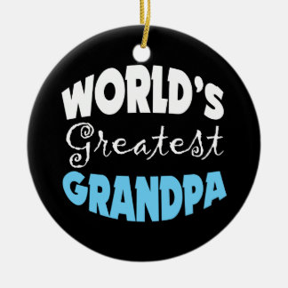 Worlds Greatest Grandpa Round Ceramic Decoration