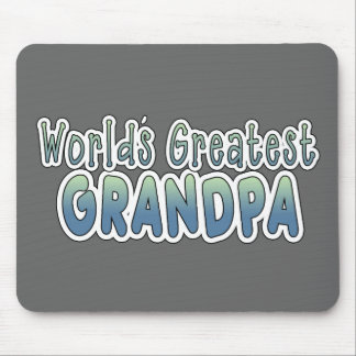 World's Greatest Grandpa Words Mouse Mat