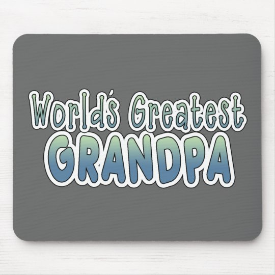 World's Greatest Grandpa Words Mouse Pad