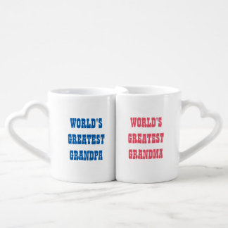 Worlds Greatest grandparents mug set for couple
