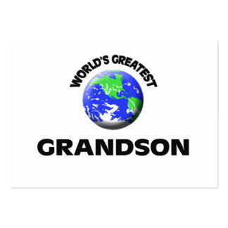World's Greatest Grandson Business Card Template