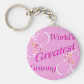 World's Greatest Granny Basic Round Button Key Ring