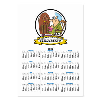 WORLDS GREATEST GRANNY CARTOON BUSINESS CARD