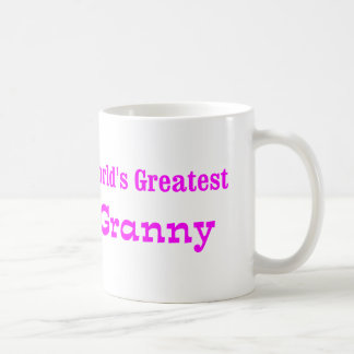 Worlds Greatest Granny Classic White Coffee Mug