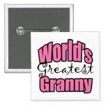 Worlds Greatest Granny Pinback Button