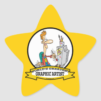WORLDS GREATEST GRAPHIC ARTIST MALE CARTOON STICKERS