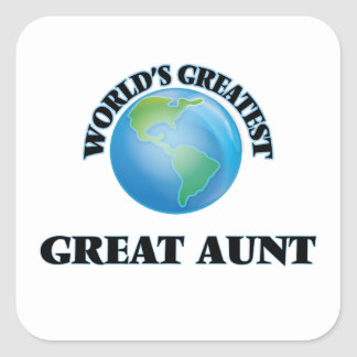World's Greatest Great Aunt Square Stickers