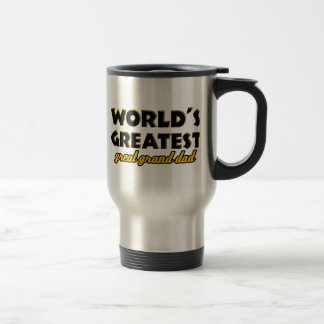 World's greatest great granddad stainless steel travel mug