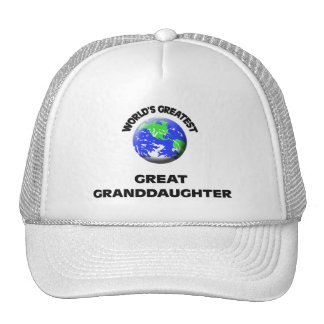 World's Greatest Great Granddaughter Mesh Hats