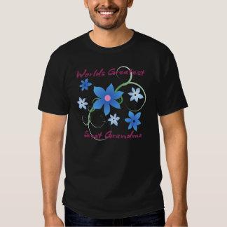 World's Greatest Great Grandma (Flowery) T Shirts