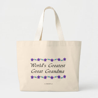 World's Greatest Great Grandma Large Tote Bag