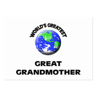 World's Greatest Great Grandmother Business Card Template