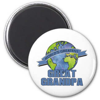 World's Greatest Great Grandpa 6 Cm Round Magnet