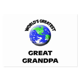 World's Greatest Great Grandpa Business Cards