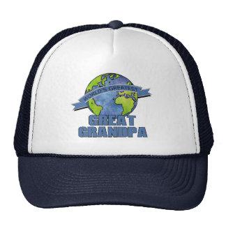 World's Greatest Great Grandpa Trucker Hats