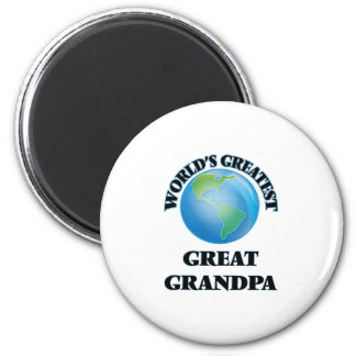 World's Greatest Great Grandpa Fridge Magnet