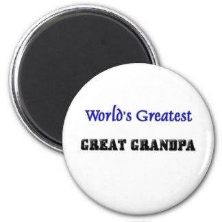 World's Greatest Great Grandpa Fridge Magnets