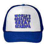 World's Greatest Great Grandpa Mesh Hats