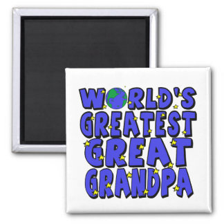 World's Greatest Great Grandpa Square Magnet