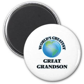 World's Greatest Great Grandson Fridge Magnets