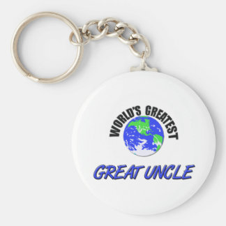 World's Greatest Great Uncle Basic Round Button Key Ring