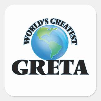 World's Greatest Greta Square Stickers