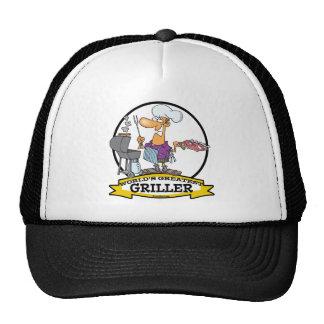 WORLDS GREATEST GRILLER MEN CARTOON HATS