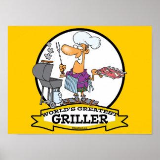 WORLDS GREATEST GRILLER MEN CARTOON POSTER
