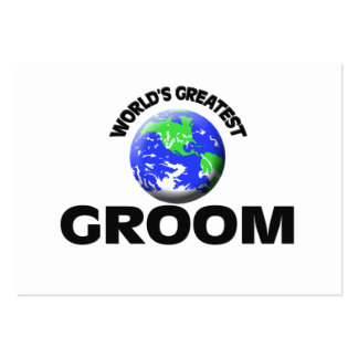 World's Greatest Groom Business Card Template