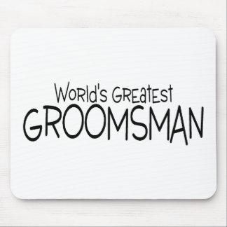 Worlds Greatest Groomsman Wedding Mouse Mat