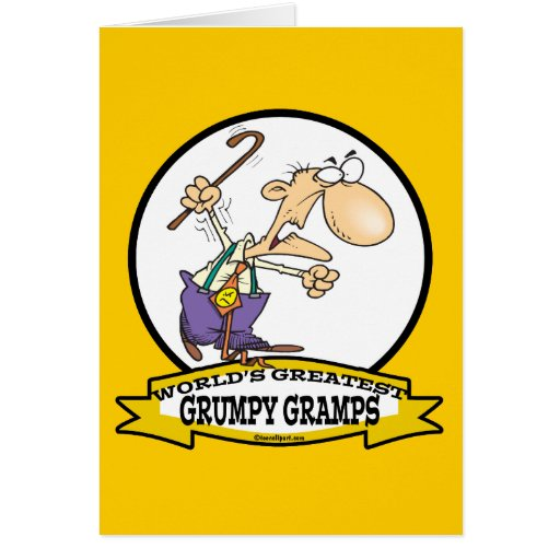 WORLDS GREATEST GRUMPY GRAMPS CARTOON GREETING CARDS