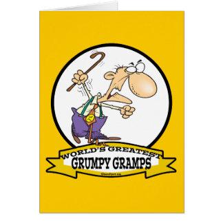 WORLDS GREATEST GRUMPY GRAMPS CARTOON GREETING CARD