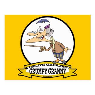 WORLDS GREATEST GRUMPY GRANNY CARTOON POSTCARD