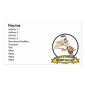 WORLDS GREATEST GRUMPY OLD LADY CARTOON PACK OF STANDARD BUSINESS CARDS
