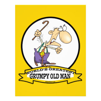 WORLDS GREATEST GRUMPY OLD MAN CARTOON 21.5 CM X 28 CM FLYER