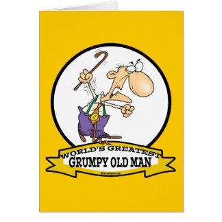 WORLDS GREATEST GRUMPY OLD MAN CARTOON GREETING CARD
