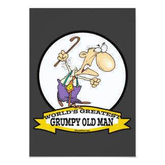 WORLDS GREATEST GRUMPY OLD MAN CARTOON PERSONALIZED ANNOUNCEMENT