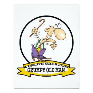 WORLDS GREATEST GRUMPY OLD MAN CARTOON INVITATIONS