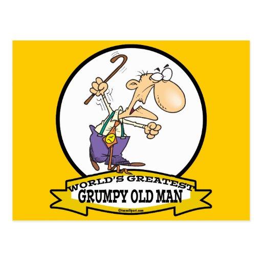 WORLDS GREATEST GRUMPY OLD MAN CARTOON POST CARDS
