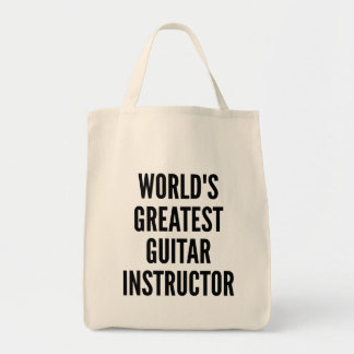 Worlds Greatest Guitar Instructor Grocery Tote Bag