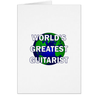 World's Greatest Guitarist Greeting Card