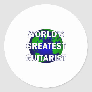 World's Greatest Guitarist Round Sticker