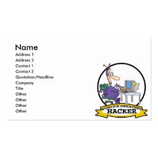 WORLDS GREATEST HACKER CARTOON PACK OF STANDARD BUSINESS CARDS