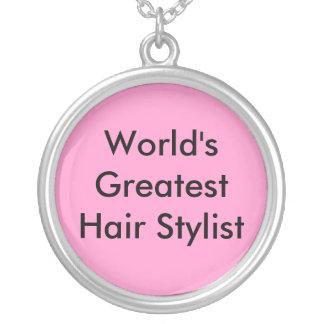 World's Greatest Hair Stylist Round Pendant Necklace