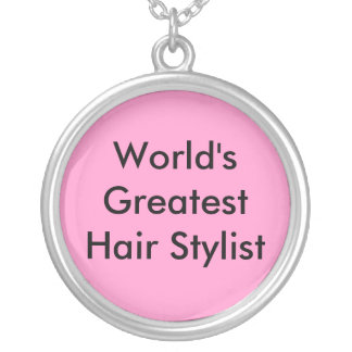 World's Greatest Hair Stylist Round Pendant Necklace