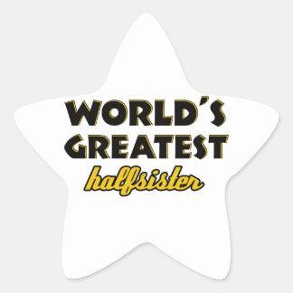 World's greatest half-sister star sticker