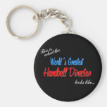 World's Greatest Handbell Director Basic Round Button Key Ring