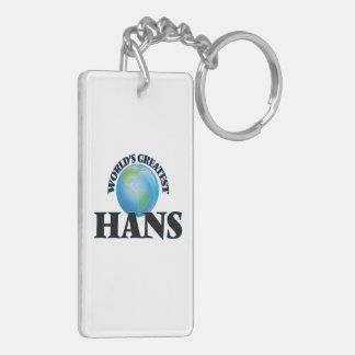 World's Greatest Hans Rectangle Acrylic Keychains