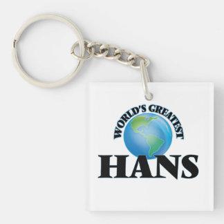 World's Greatest Hans Square Acrylic Keychains